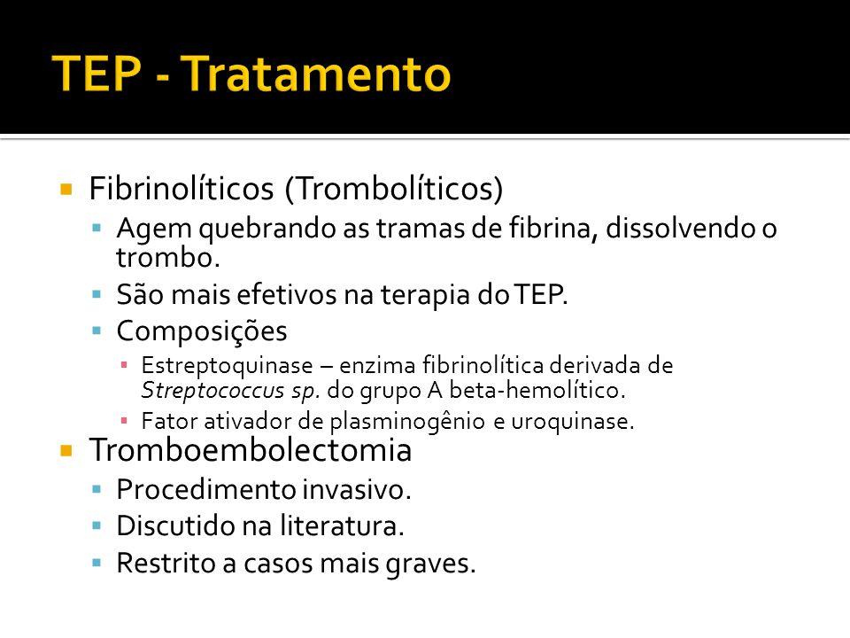 TEP - Tratamento Fibrinolíticos (Trombolíticos) Tromboembolectomia