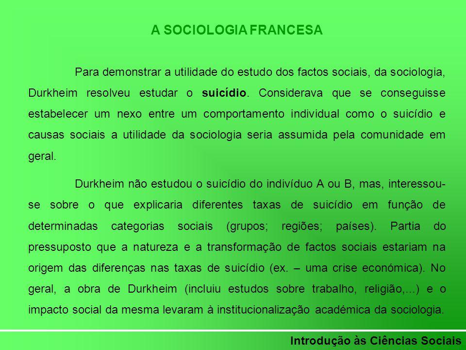 A SOCIOLOGIA FRANCESA