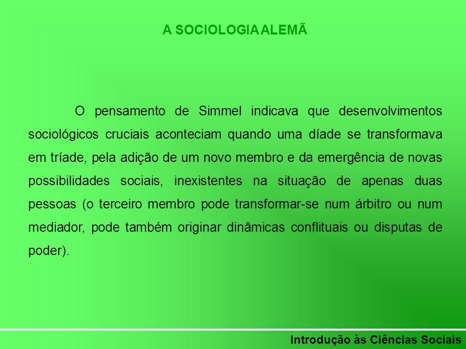 A SOCIOLOGIA ALEMÃ