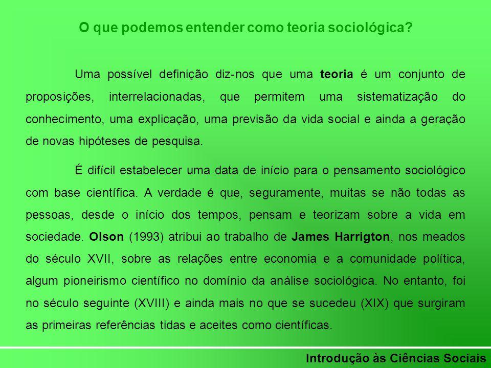 O que podemos entender como teoria sociológica