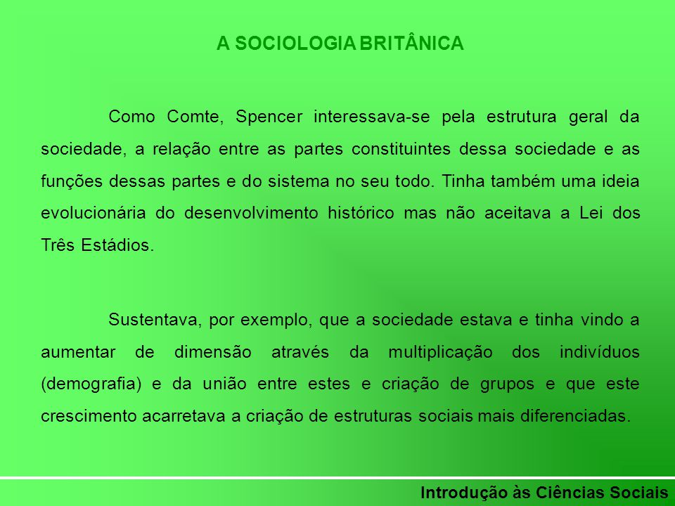 A SOCIOLOGIA BRITÂNICA