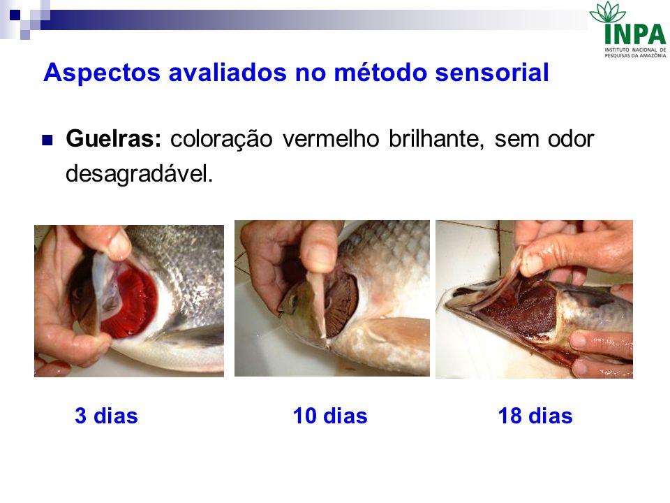 Aspectos avaliados no método sensorial