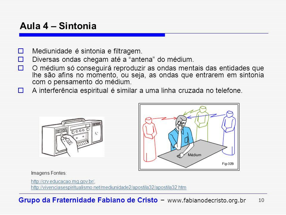 Aula 4 – Sintonia Mediunidade é sintonia e filtragem.