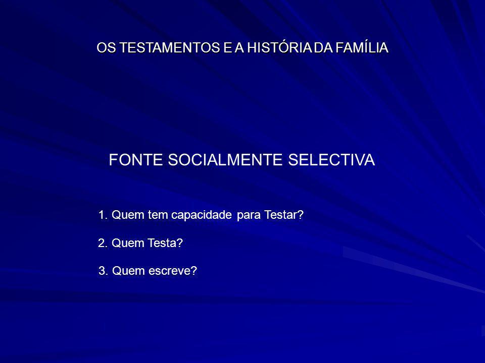 FONTE SOCIALMENTE SELECTIVA