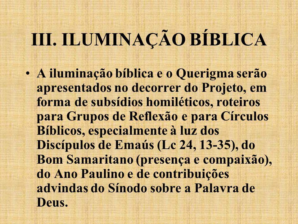 III. ILUMINAÇÃO BÍBLICA