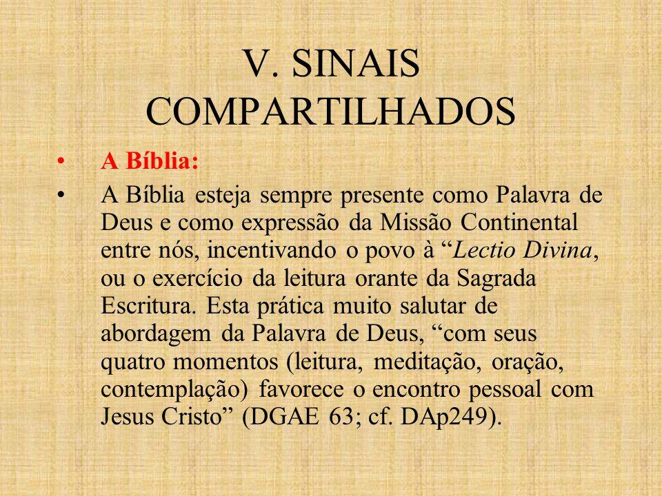 V. SINAIS COMPARTILHADOS