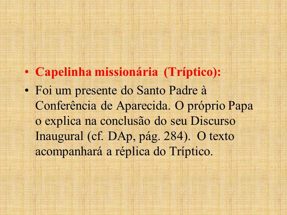 Capelinha missionária (Tríptico):