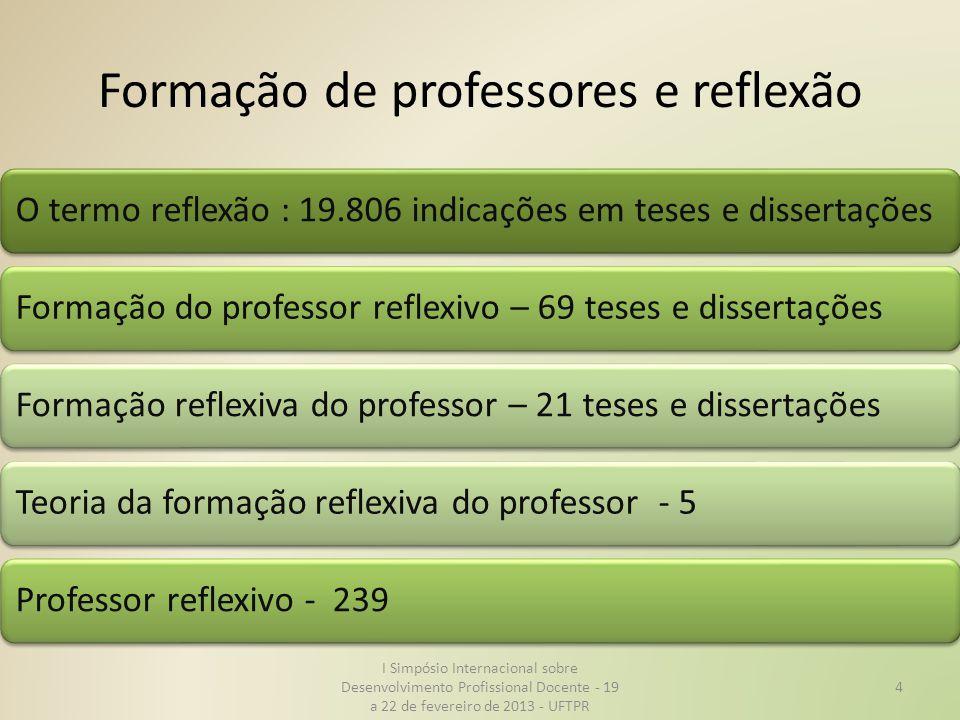 Formação de professores e reflexão