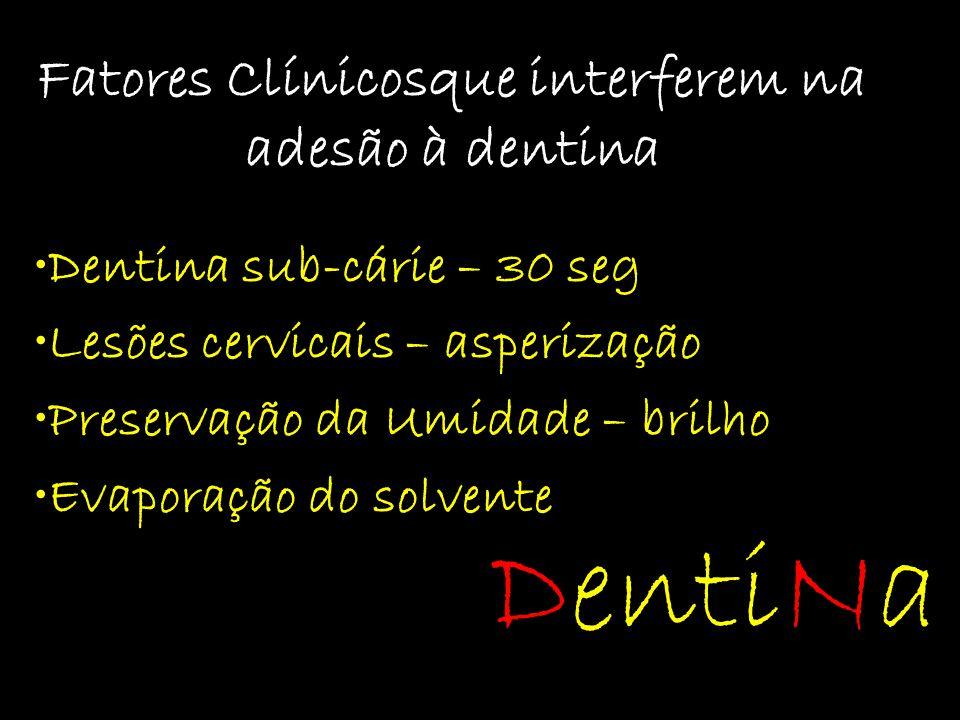 Fatores Clínicosque interferem na adesão à dentina