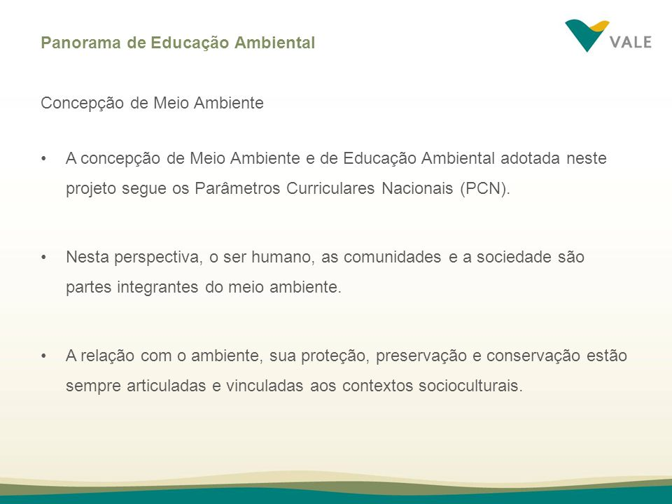 Panorama de Educação Ambiental
