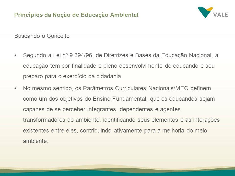 Princípios da Noção de Educação Ambiental