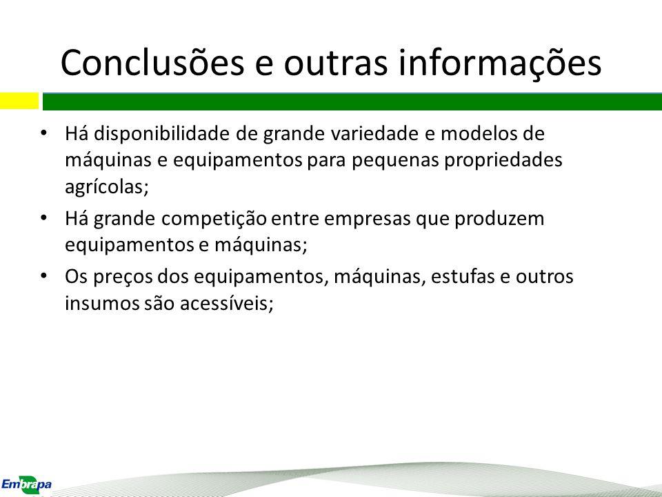 Conclusões e outras informações
