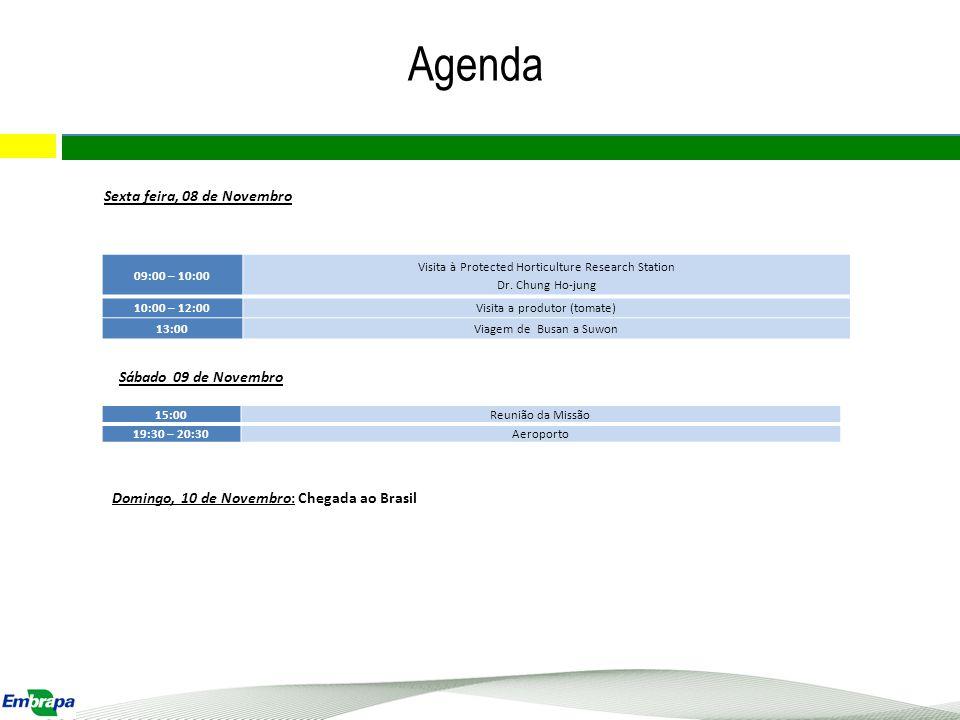 Agenda 18 Sexta feira, 08 de Novembro Sábado 09 de Novembro