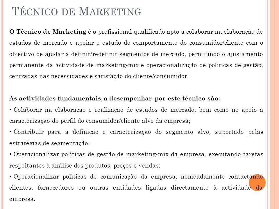 Técnico de Marketing