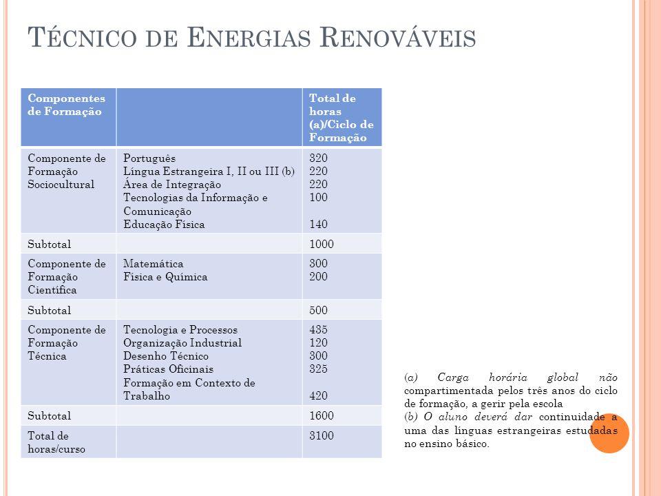 Técnico de Energias Renováveis