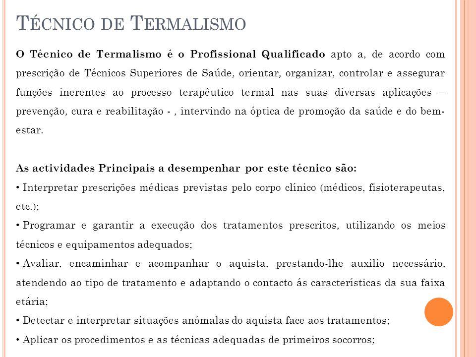 Técnico de Termalismo