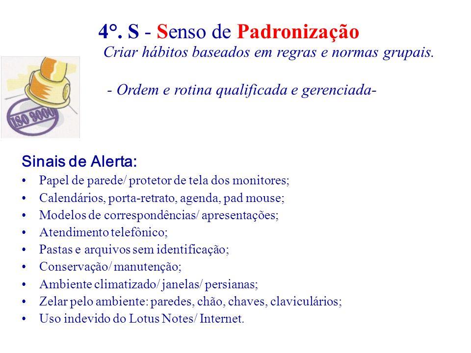 4°. S - Senso de Padronização
