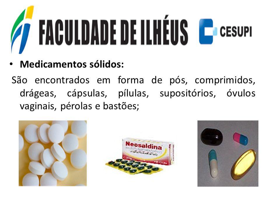 Medicamentos sólidos: