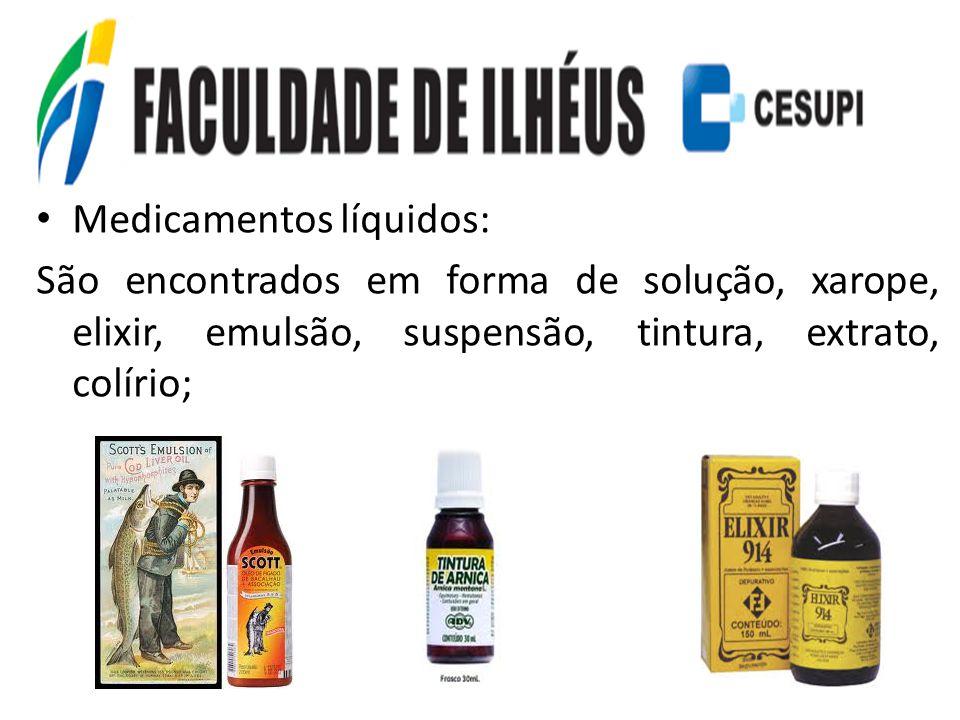Medicamentos líquidos: