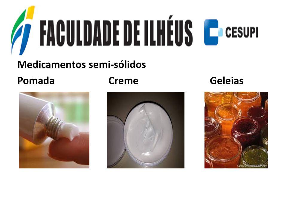 Medicamentos semi-sólidos Pomada Creme Geleias