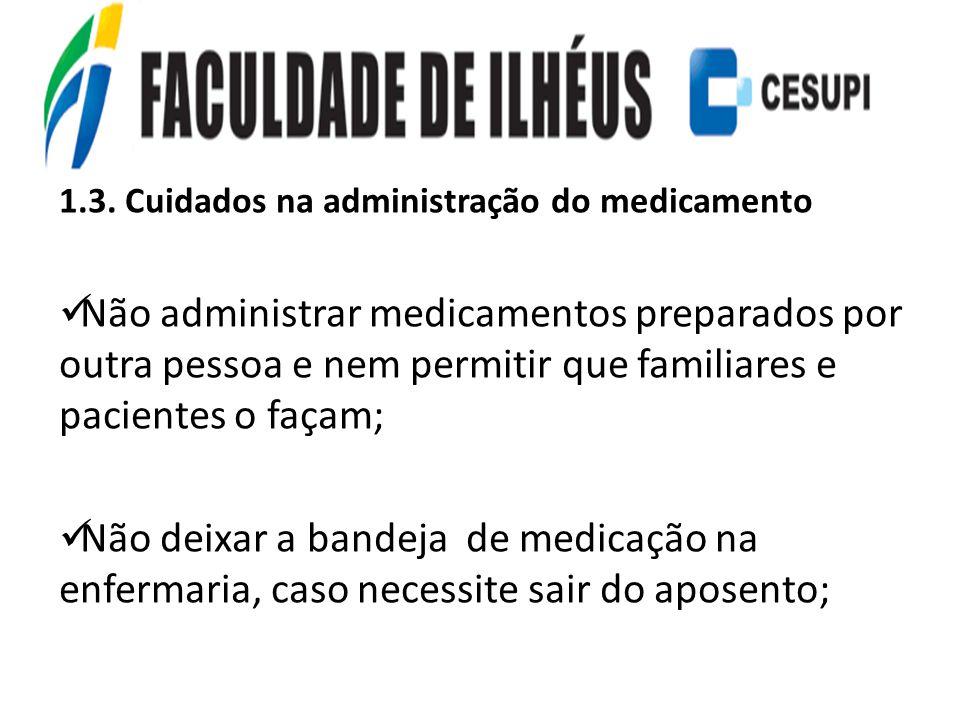 1.3. Cuidados na administração do medicamento
