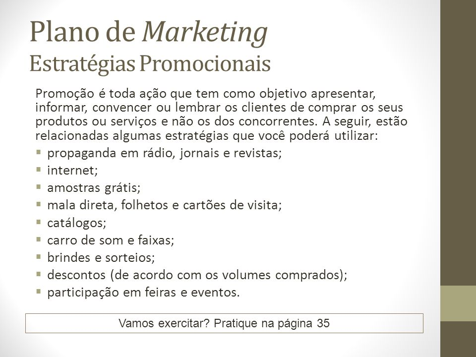 Plano de Marketing Estratégias Promocionais