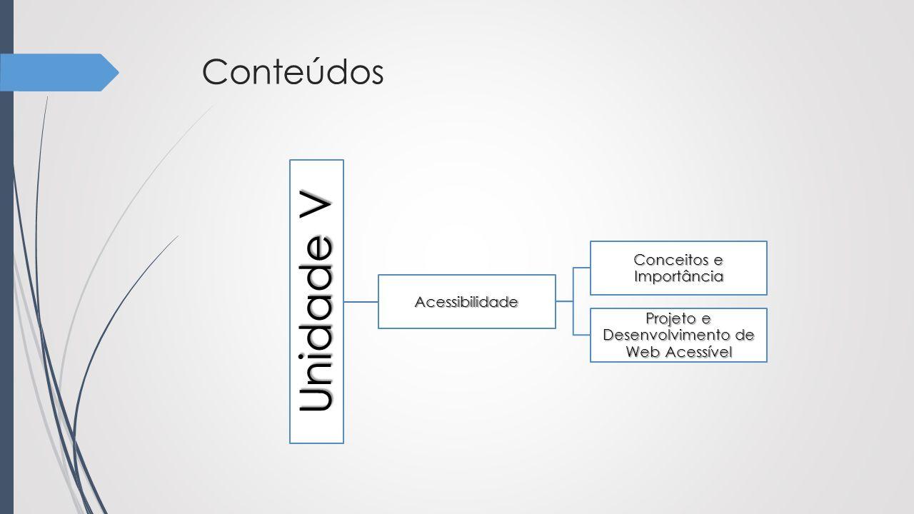 Unidade V Conteúdos Conceitos e Importância Acessibilidade