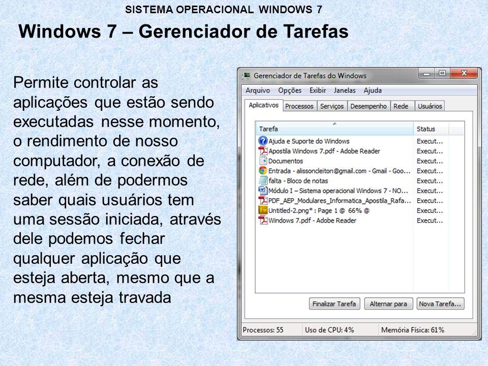 Windows 7 – Gerenciador de Tarefas