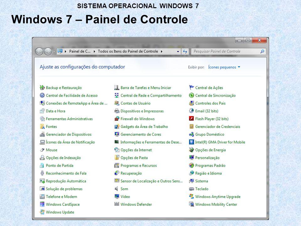 Windows 7 – Painel de Controle