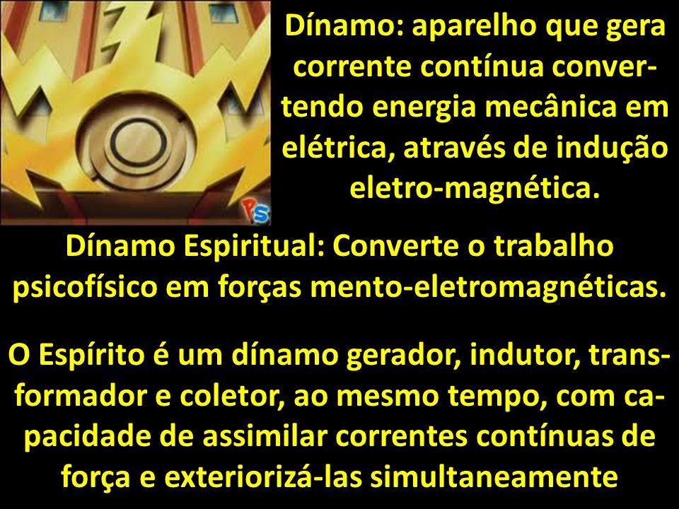 Dínamo: aparelho que gera corrente contínua conver-tendo energia mecânica em elétrica, através de indução eletro-magnética.