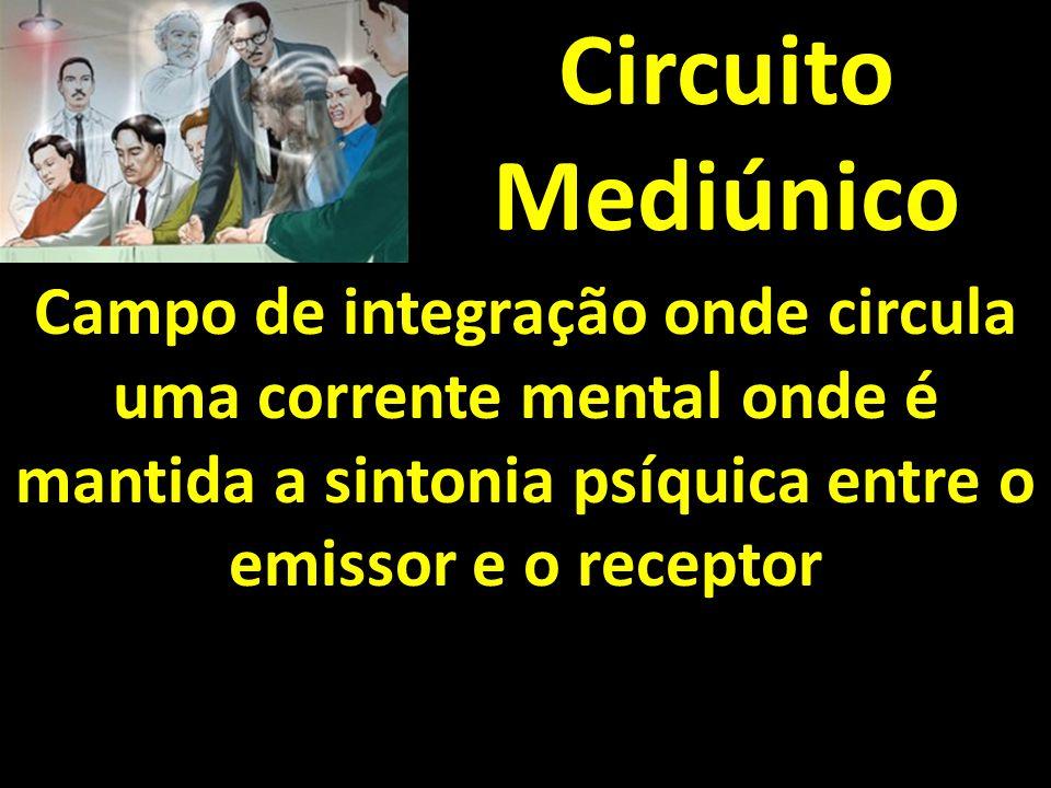 Circuito Mediúnico Campo de integração onde circula uma corrente mental onde é mantida a sintonia psíquica entre o emissor e o receptor.