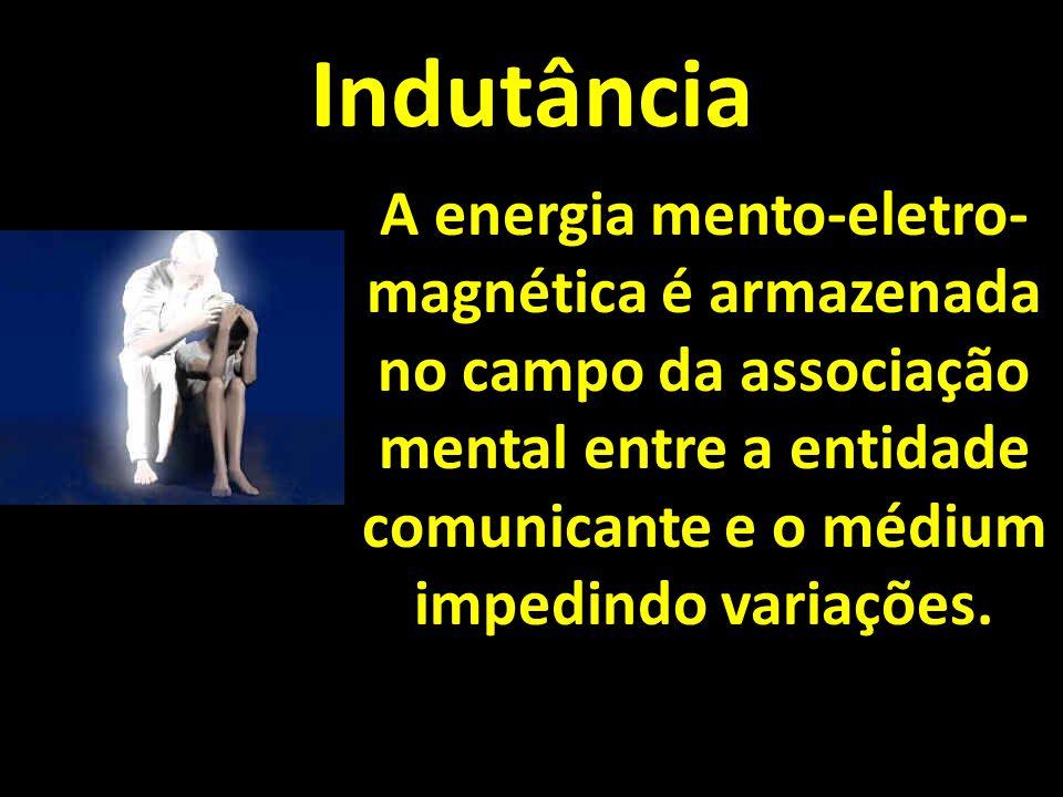 Indutância A energia mento-eletro-magnética é armazenada no campo da associação mental entre a entidade comunicante e o médium impedindo variações.