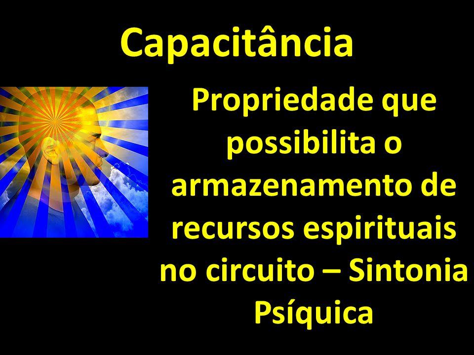 Capacitância Propriedade que possibilita o armazenamento de recursos espirituais no circuito – Sintonia Psíquica.
