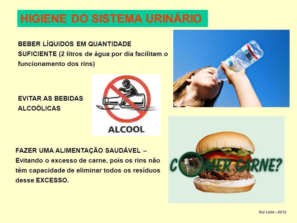 HIGIENE DO SISTEMA URINÁRIO