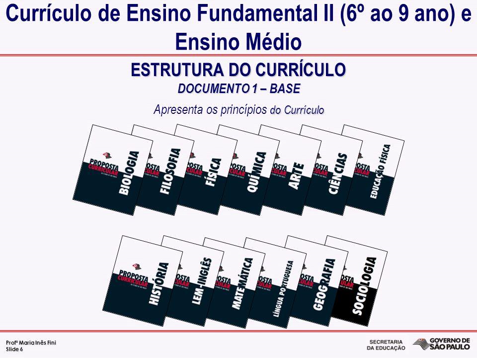 Currículo de Ensino Fundamental II (6º ao 9 ano) e Ensino Médio