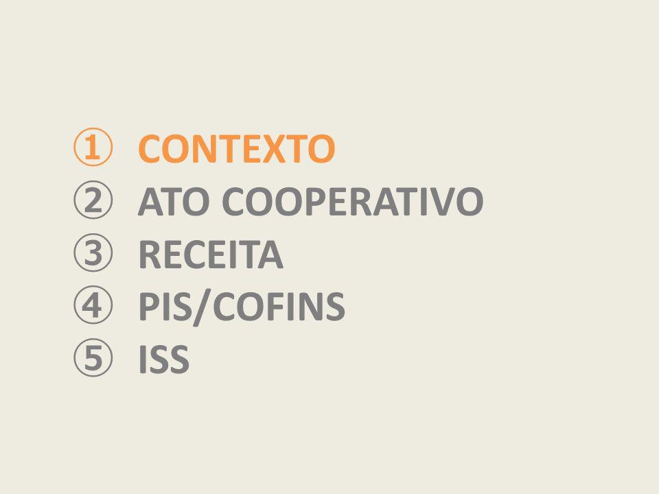 CONTEXTO ATO COOPERATIVO RECEITA PIS/COFINS ISS