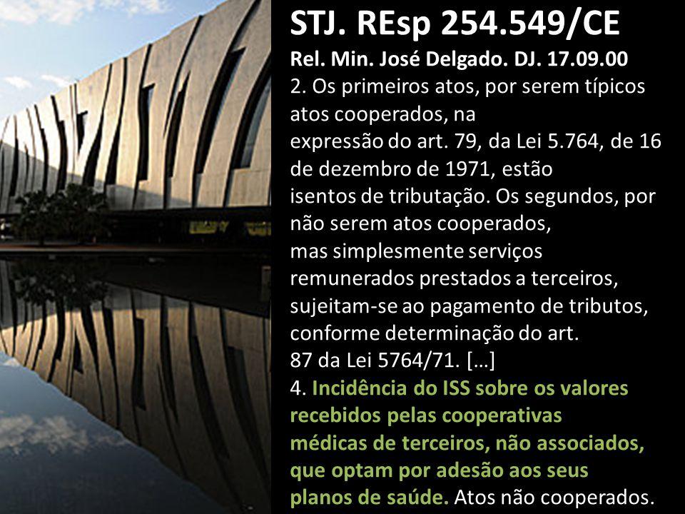 STJ. REsp 254.549/CE Rel. Min. José Delgado. DJ. 17.09.00