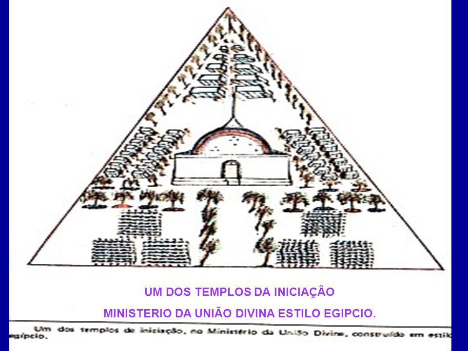 UM DOS TEMPLOS DA INICIAÇÃO MINISTERIO DA UNIÃO DIVINA ESTILO EGIPCIO.