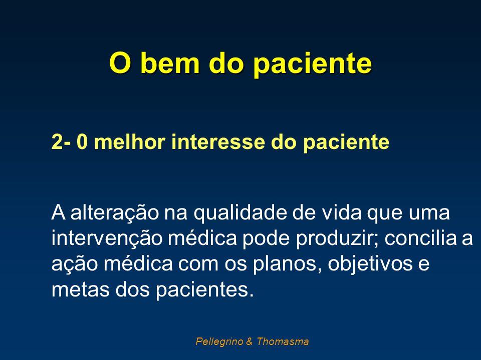 O bem do paciente 2- 0 melhor interesse do paciente