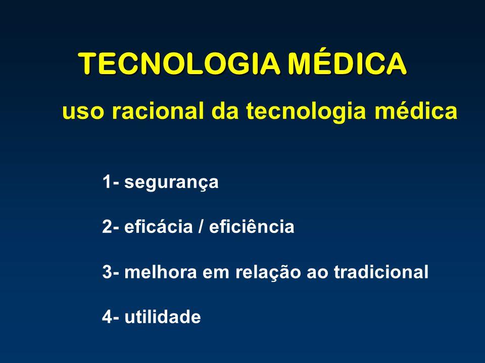 TECNOLOGIA MÉDICA uso racional da tecnologia médica 1- segurança