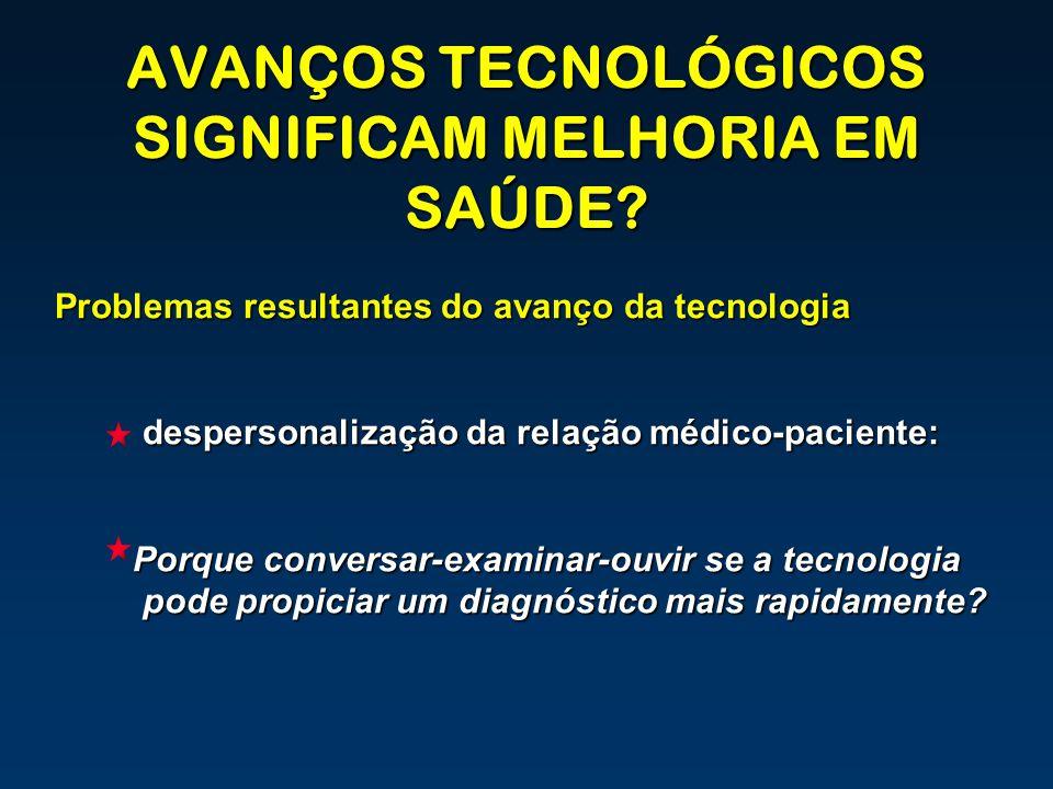 AVANÇOS TECNOLÓGICOS SIGNIFICAM MELHORIA EM SAÚDE