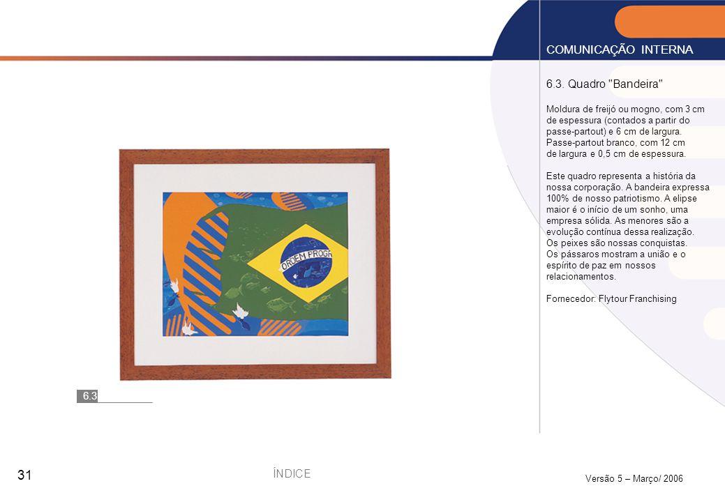 COMUNICAÇÃO INTERNA 6.3. Quadro Bandeira ÍNDICE 6.3