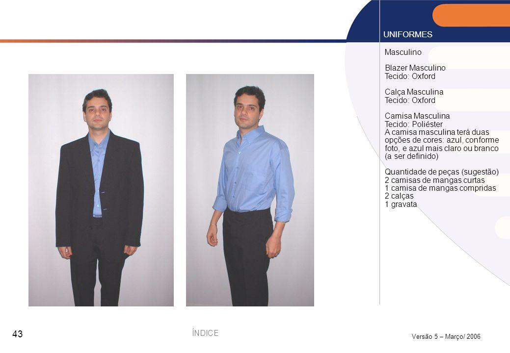 UNIFORMES Masculino Blazer Masculino Tecido: Oxford Calça Masculina