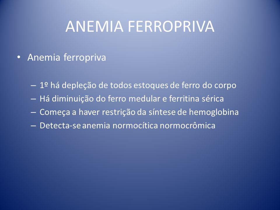 ANEMIA FERROPRIVA Anemia ferropriva