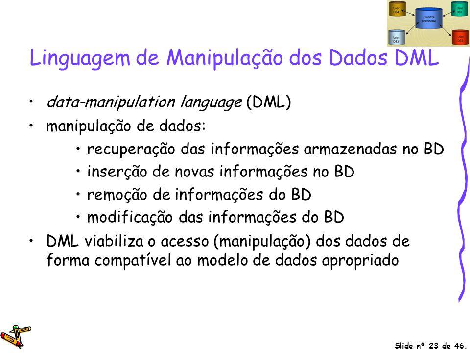 Linguagem de Manipulação dos Dados DML