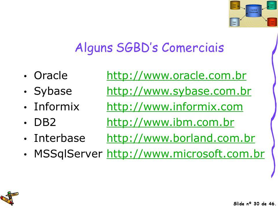 Alguns SGBD's Comerciais