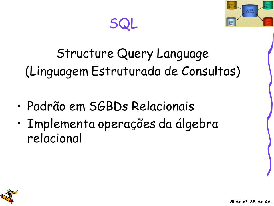 SQL Structure Query Language (Linguagem Estruturada de Consultas)