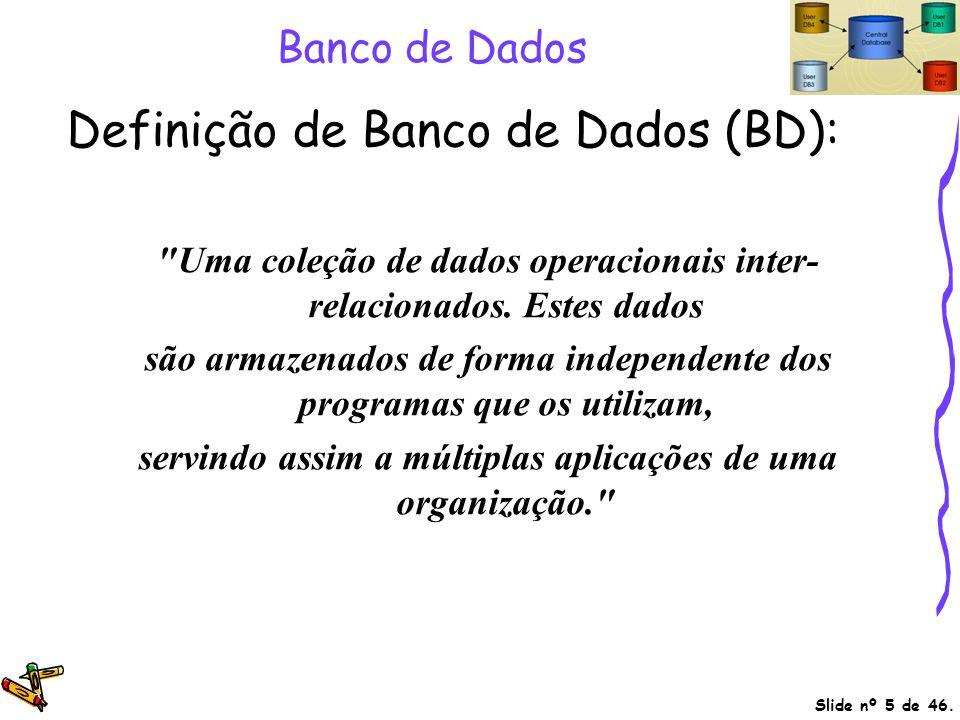 Definição de Banco de Dados (BD):