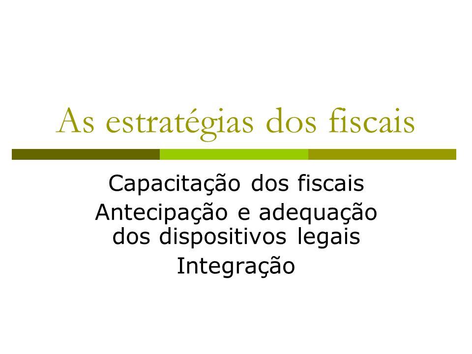 As estratégias dos fiscais