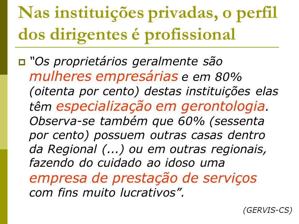 Nas instituições privadas, o perfil dos dirigentes é profissional